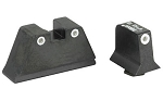 Trijicon Supressor Height Green Dot White Ring Night Sights - Glock 17,19,26,27,33,34